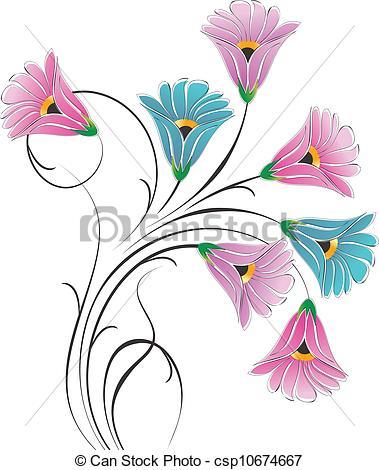 379x470 Vector Fancy Flower Bunch Clip Art Vector