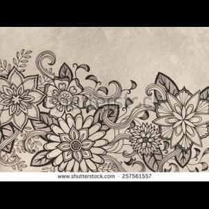 303x303 Colourful Indian Henna Style Pattern Sketches
