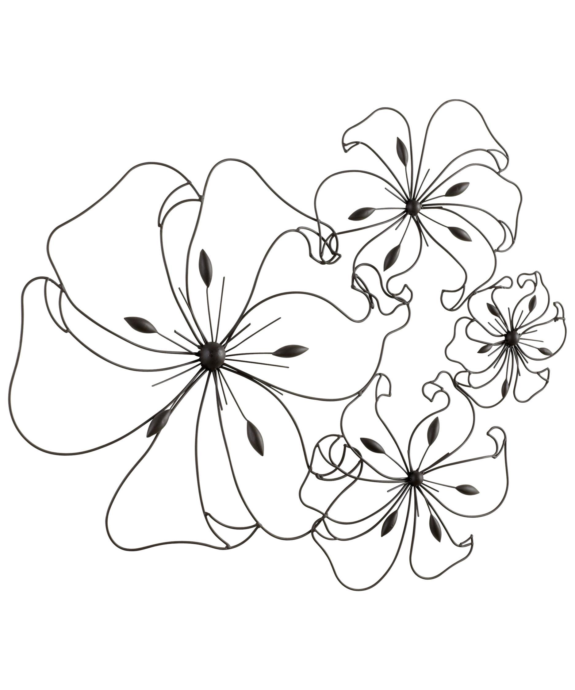 1875x2250 Cyan Design 05832 Fancy Flower Alternative Wall Art Capitol