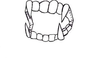 300x210 Vampire Teeth Drawing Vampire Teeth Drawing Vampire Fangs Stock