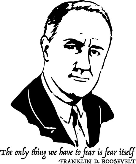 458x550 Franklin D. Roosevelt Quote Posters By Michaelrellov Redbubble