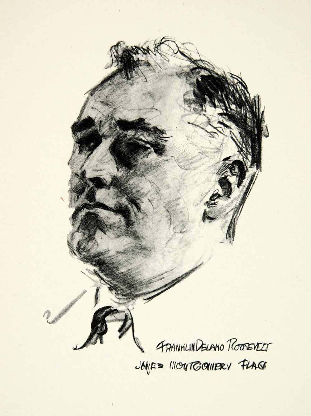 1000x1338 Franklin Delano Roosevelt By James Montgomery Flagg Masterpieces