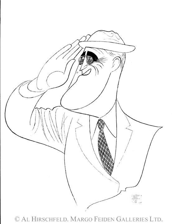 572x717 Fdr, Salute. President Franklin Delano Roosevelt By Al Hirschfeld
