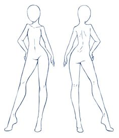 236x273 Female Body Template By ~faithtale On Drawings