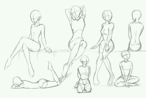 499x335 Woman Body Outlines Outlines, Drawings