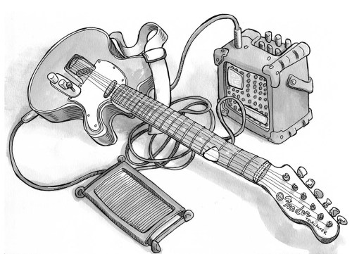 Fender Drawing At Getdrawings Com