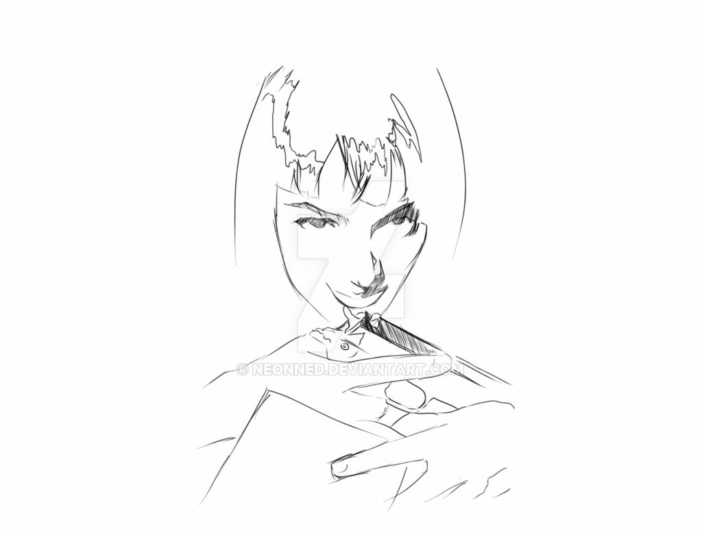 1024x778 Uma Thurman (Pulp Fiction) By Neonned