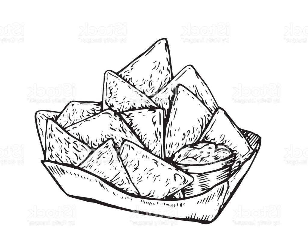 1024x820 Best Free Vintage Hand Drawing Nachos Illustration Vector File