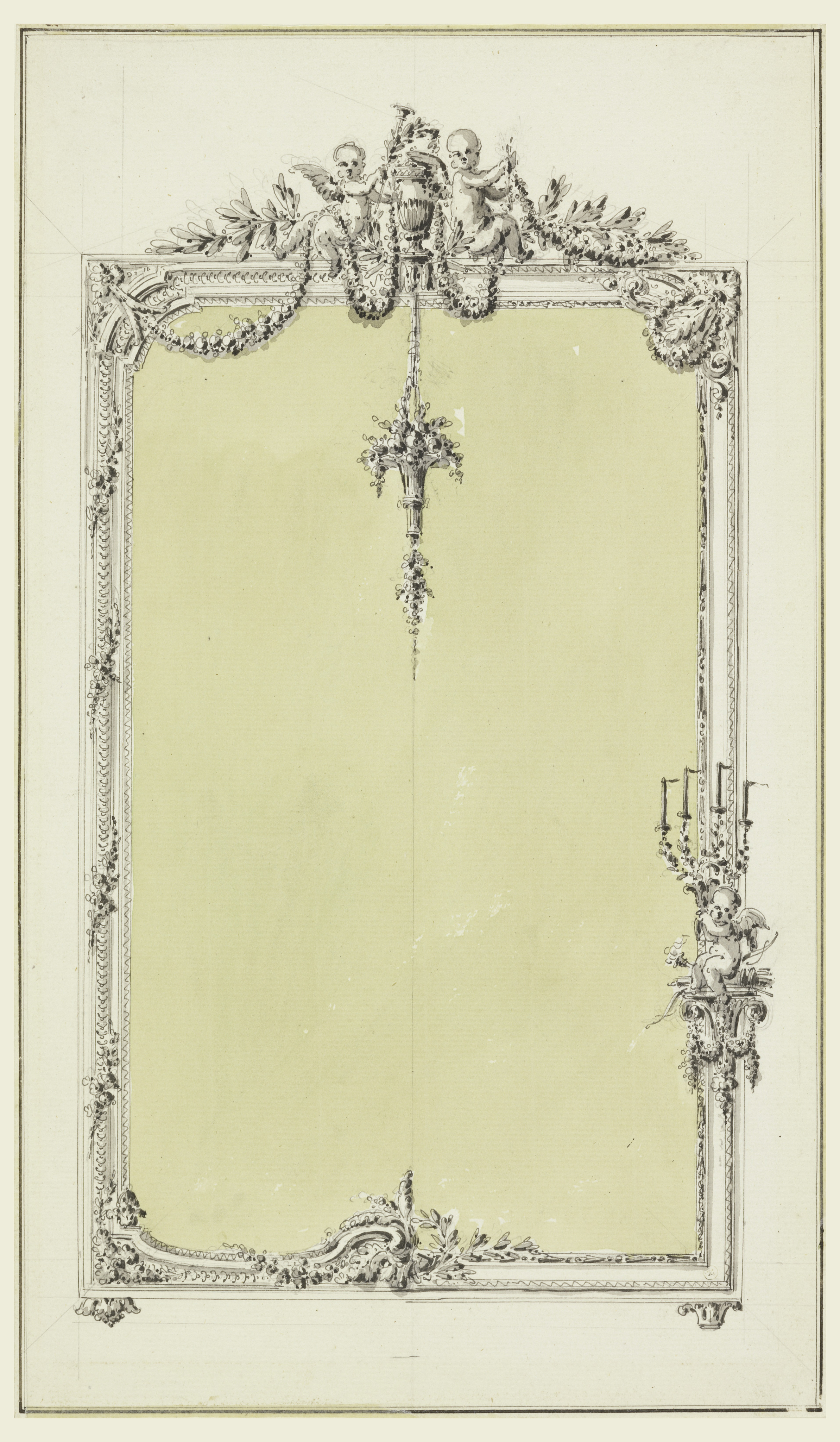2387x4096 Mirror Frame Drawing Filedrawing, Design For A Mirror Frame,
