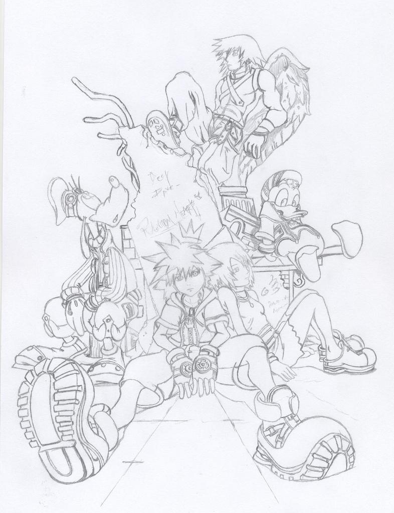 786x1024 Kingdom Hearts Final Mix Pencil A Drawing From Kingdom