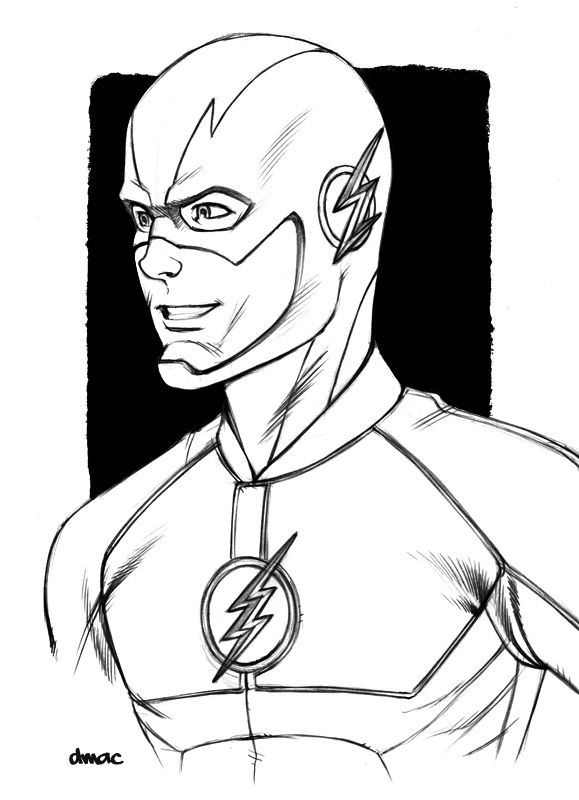 579x800 Collection Of Drawings Of The Flash Cw High Quality, Free
