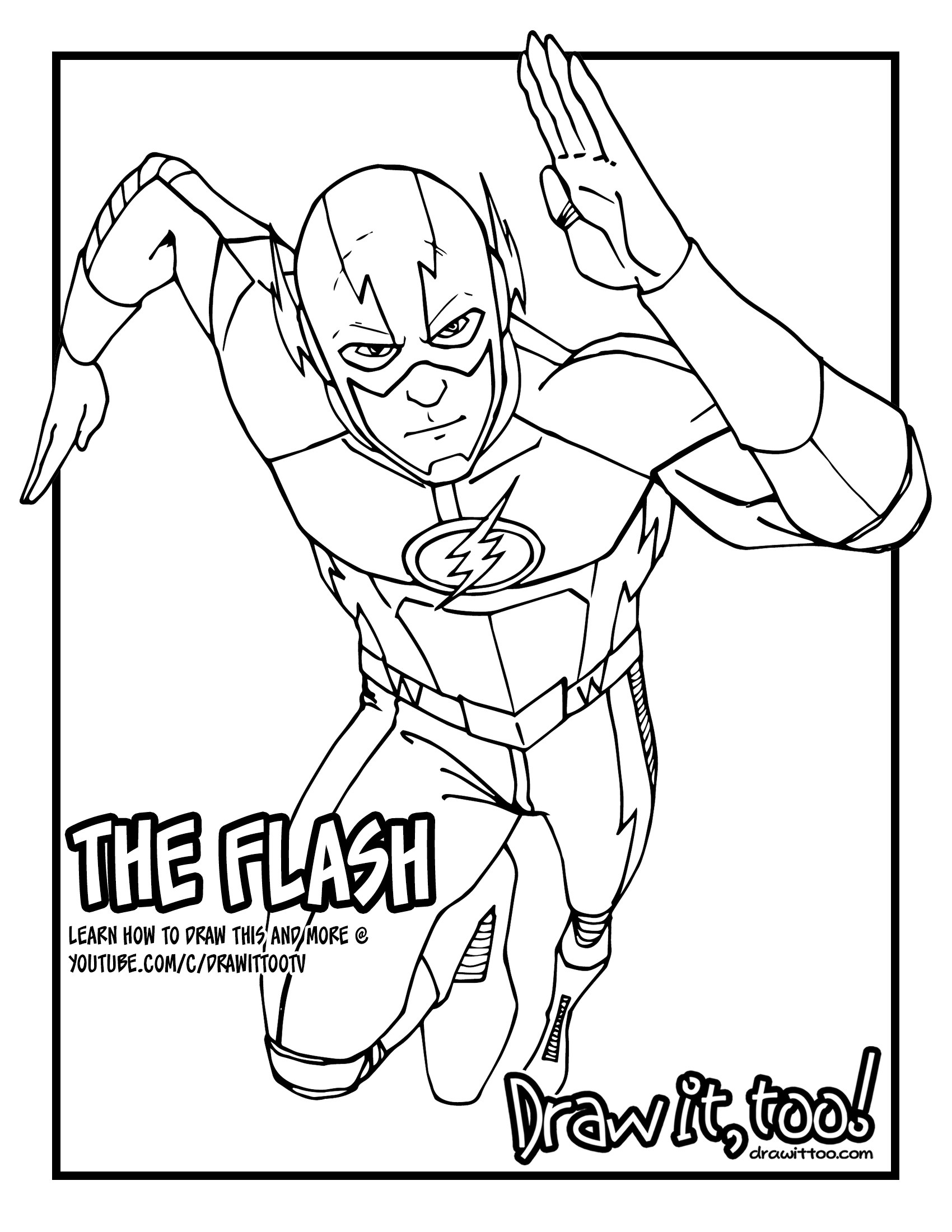 1700x2200 The Flash (The Cw Tv Series) Tutorial, Version Two Draw It, Too!