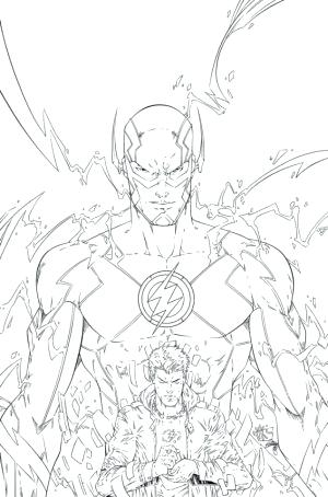 300x454 The Flash Coloring Pages Excellent The Flash Cw Coloring Pages