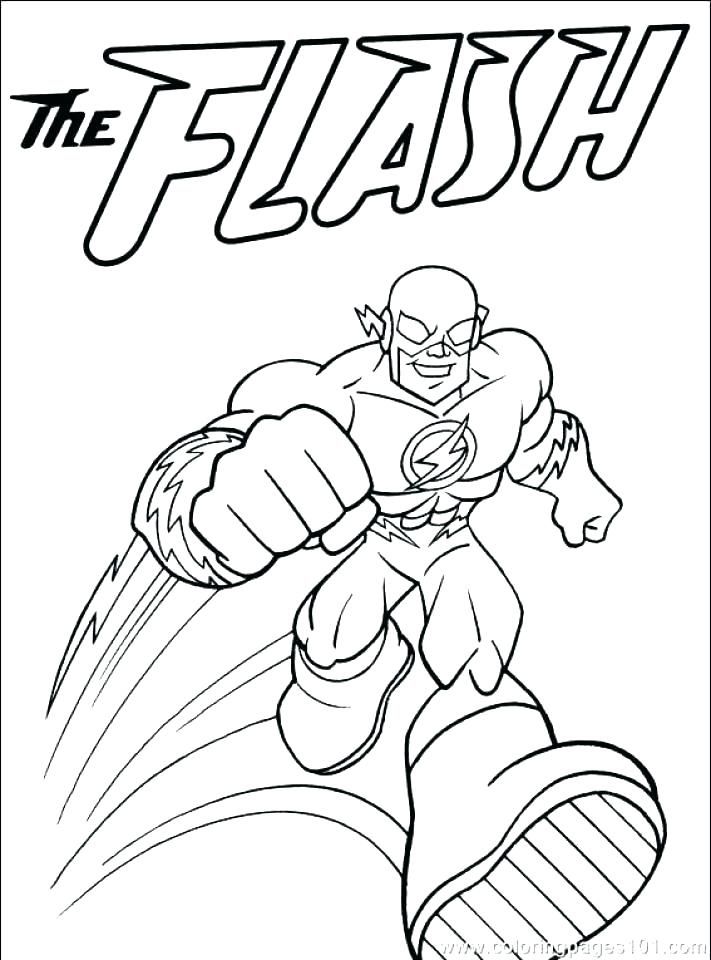 711x960 Kid Flash Coloring Pages