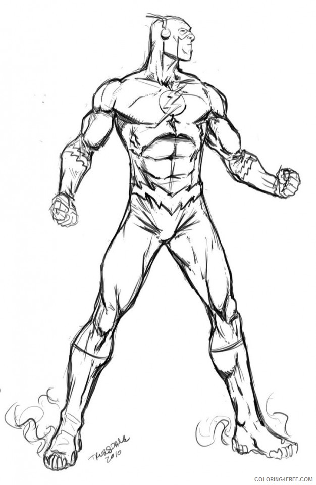 626x960 The Flash Cw Coloring Pages Coloring4free