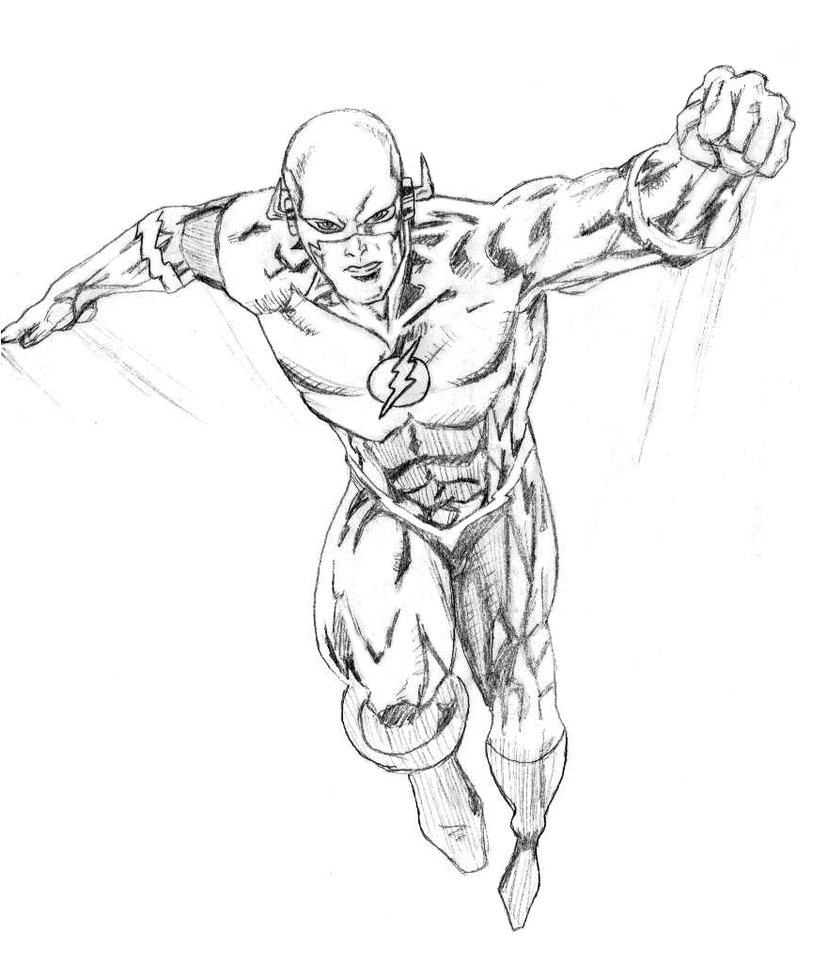 828x965 Awesome Kid Flash Coloring Pages Cw Gallery Free Coloring Pages