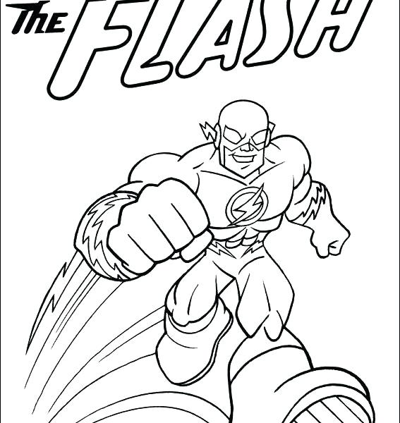 567x600 The Flash Cw Coloring Pages