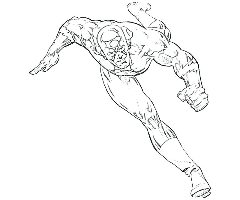 800x667 Cw The Flash Coloring Pages Gallery