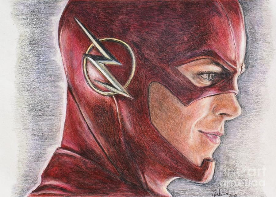 900x641 Collection Of The Flash Cw Drawing High Quality, Free