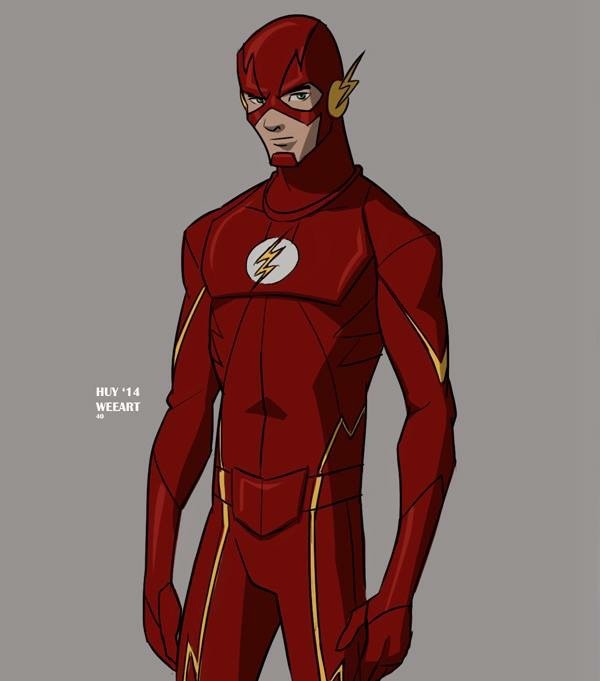 600x681 Huy Wee Dinh Cw Flash In Young Justice Cartoon Style! I Like
