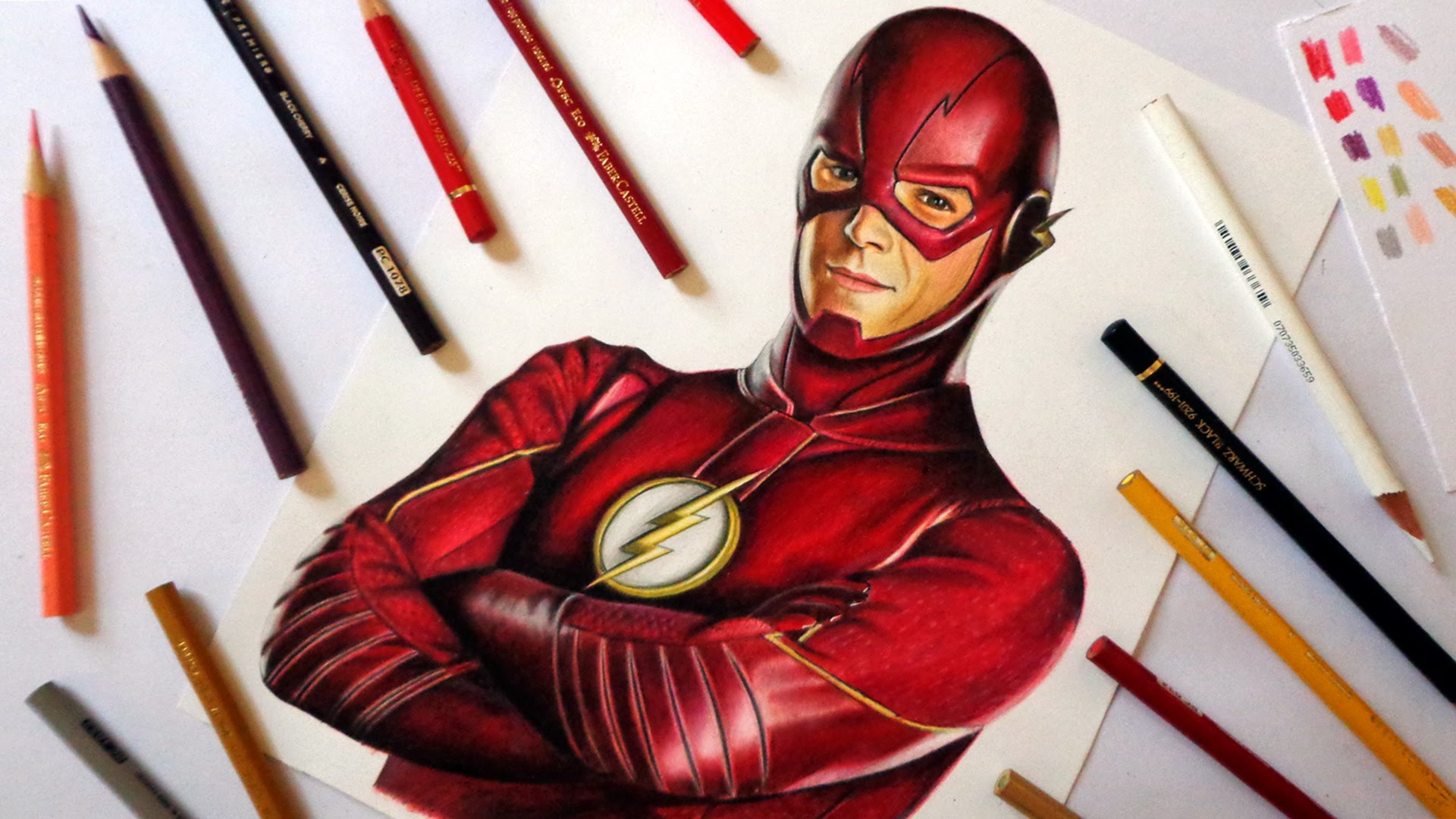 1920x1080 Speed Drawing The Flash