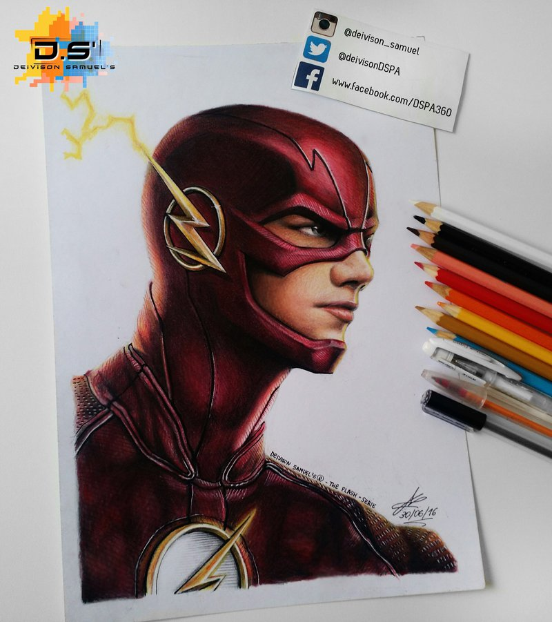 800x901 The Flash Cw Drawing By Dspa360