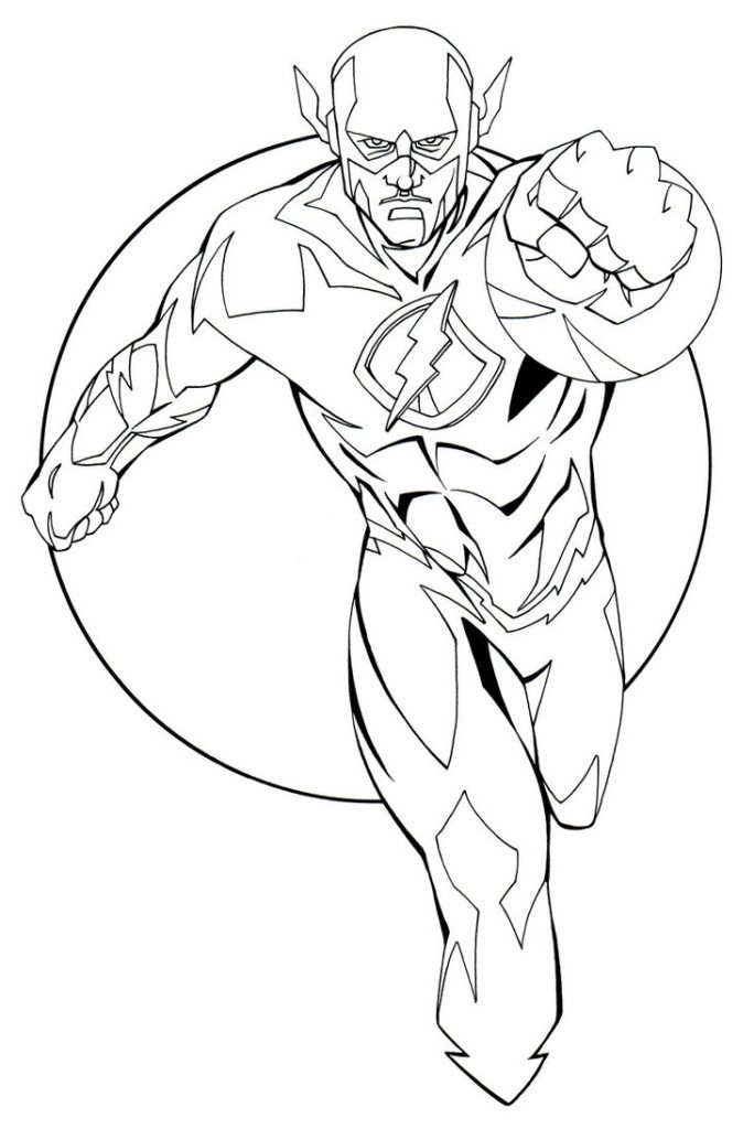 684x1024 Flash Coloring Page The Flash Coloring Pages Cw Coloringstar