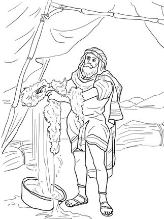 323x430 Click To See Printable Version Of Gideon And The Fleece Coloring