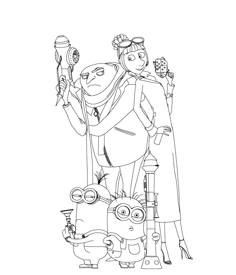 820x955 Despicable Me Minion Coloring Pages Site Pertaining To Free
