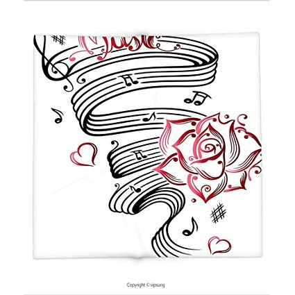 425x425 Custom Printed Throw Blanket With Tattoo Decor Pencil