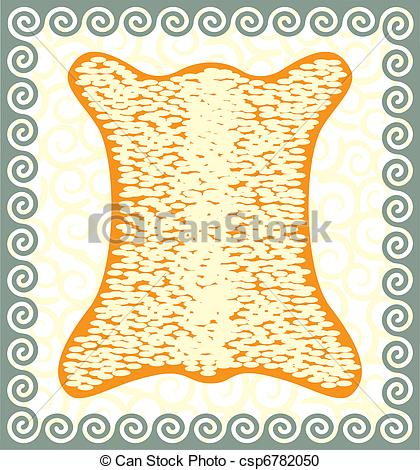 420x470 Golden Fleece. Vector Antique Picture With Meanders. Vector
