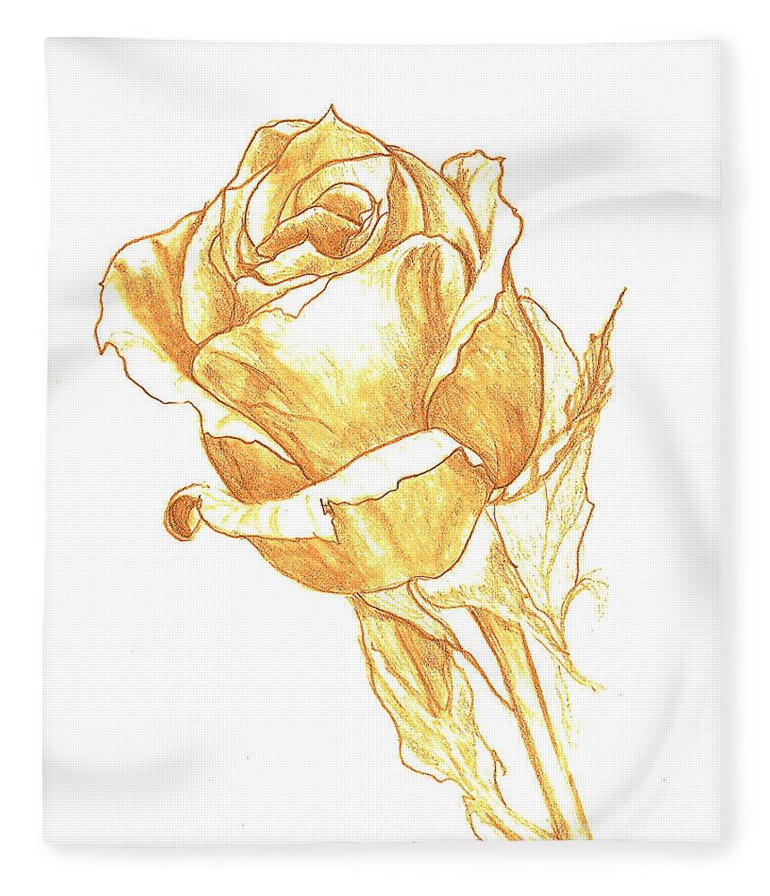 860x1000 Rose Gold Fleece Blanket For Sale By Heather Hiland