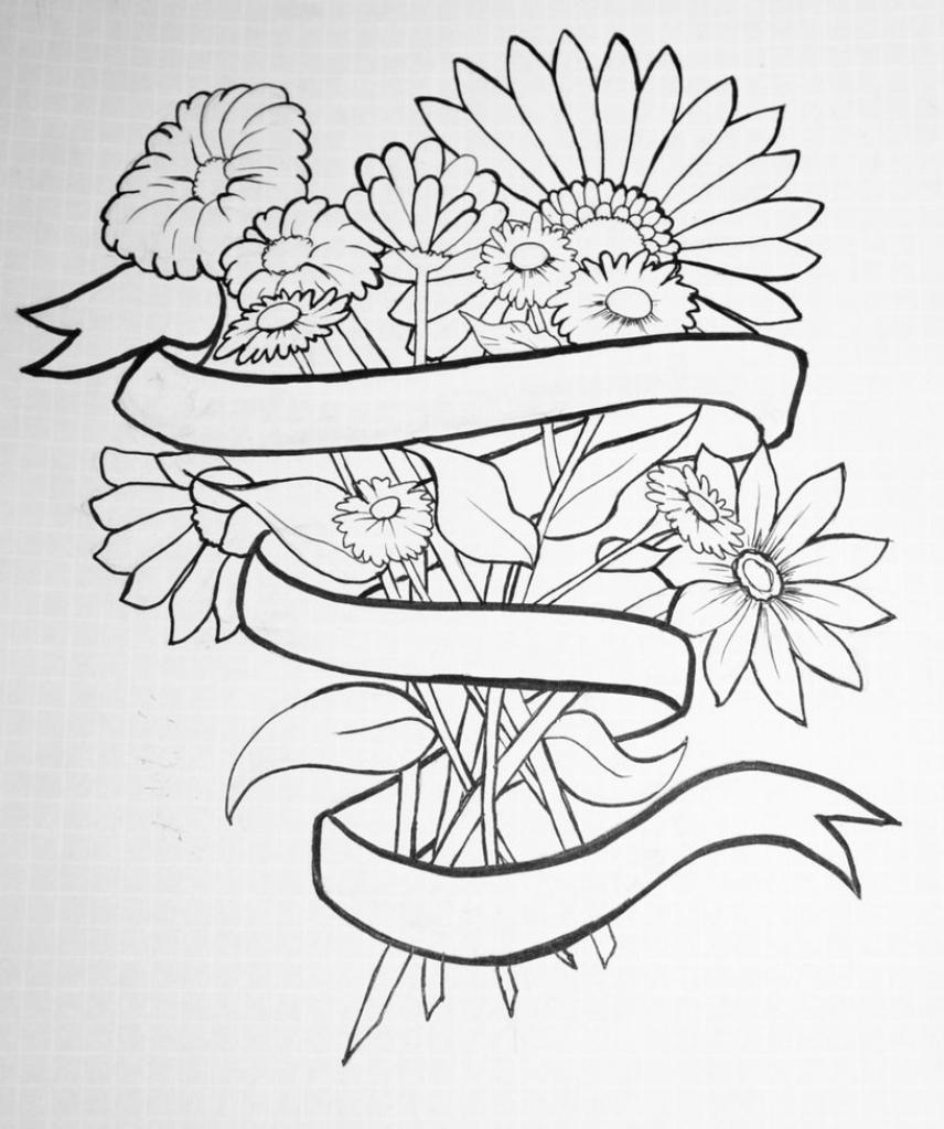 856x1024 Tumblr Flower Drawing Tumblr Flower Drawing Flowers Tumblr Drawing