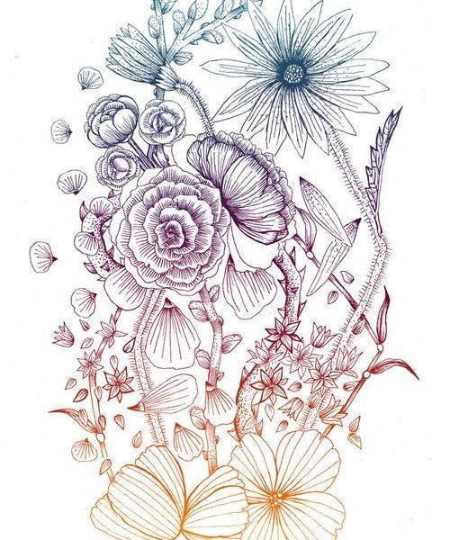 500x600 Flower Drawing Tumblr Transparent Tumblr Transparent Tumblr