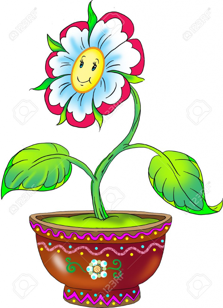 742x1024 Drawing Of Flower Pot Picture Of Flower Pot Amp Flower Pot Clipart