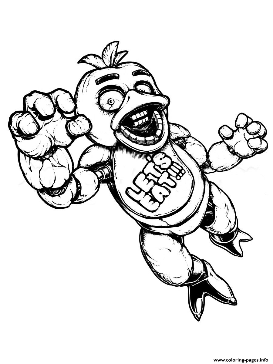 900x1200 Fnaf 4 Coloring Pages All Characters New Golden Freddy