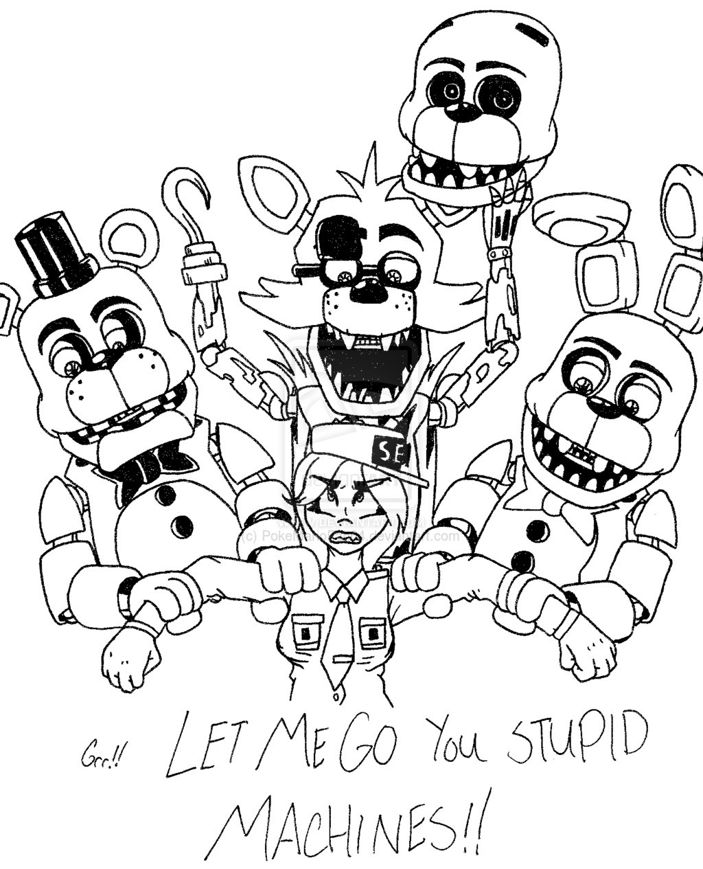 Fnaf Characters Drawing At GetDrawings