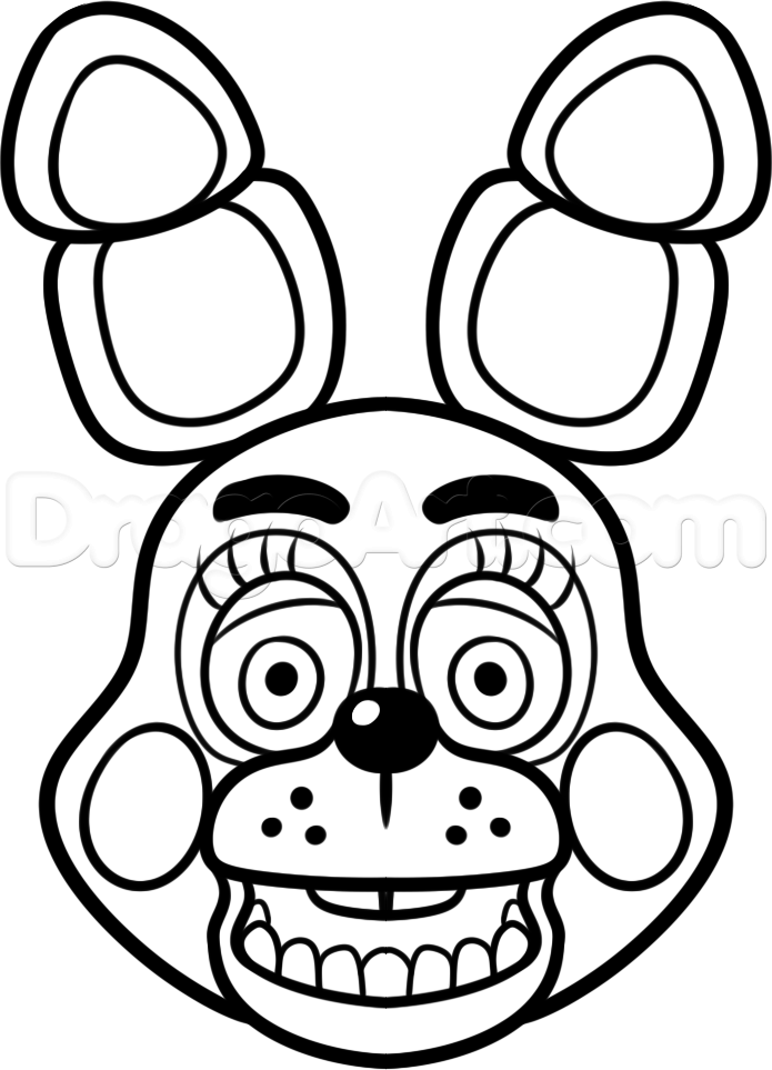 695x963 How To Draw Toy Bonnie From Five Nights