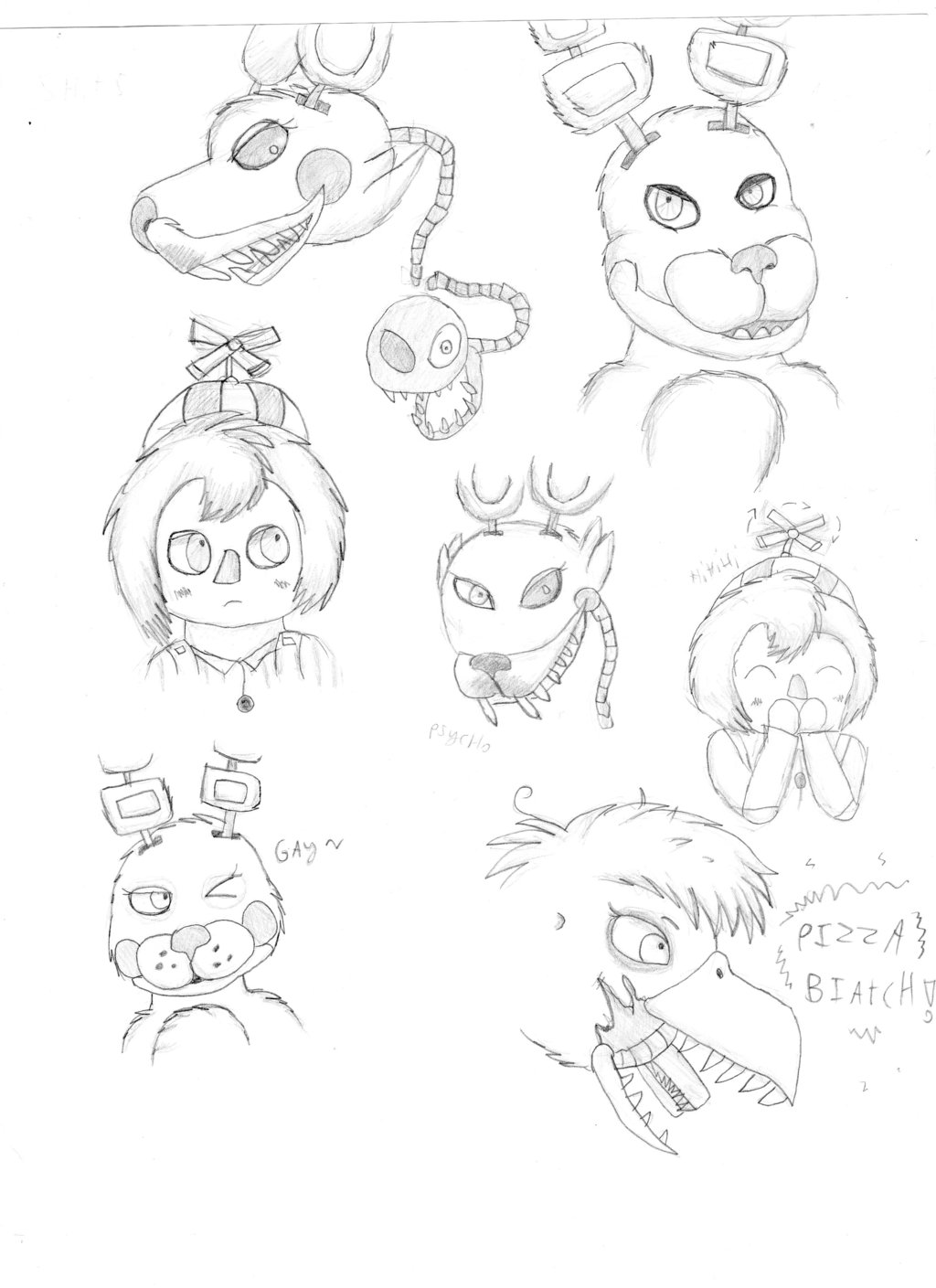 1024x1409 Some Fnaf Characters By Liftyshiftyfan