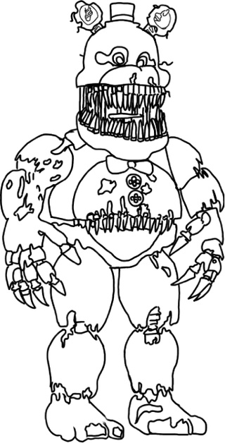 320x628 Fnaf World Coloring Pages All Characters Download Printable