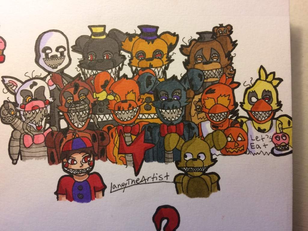 1024x768 All Fnaf 4 Characters Five Nights At Freddy's Amino
