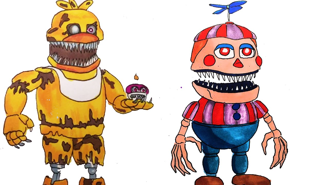 1280x720 All Of My Fnaf 4 Drawings How To Draw Drawing Lessons