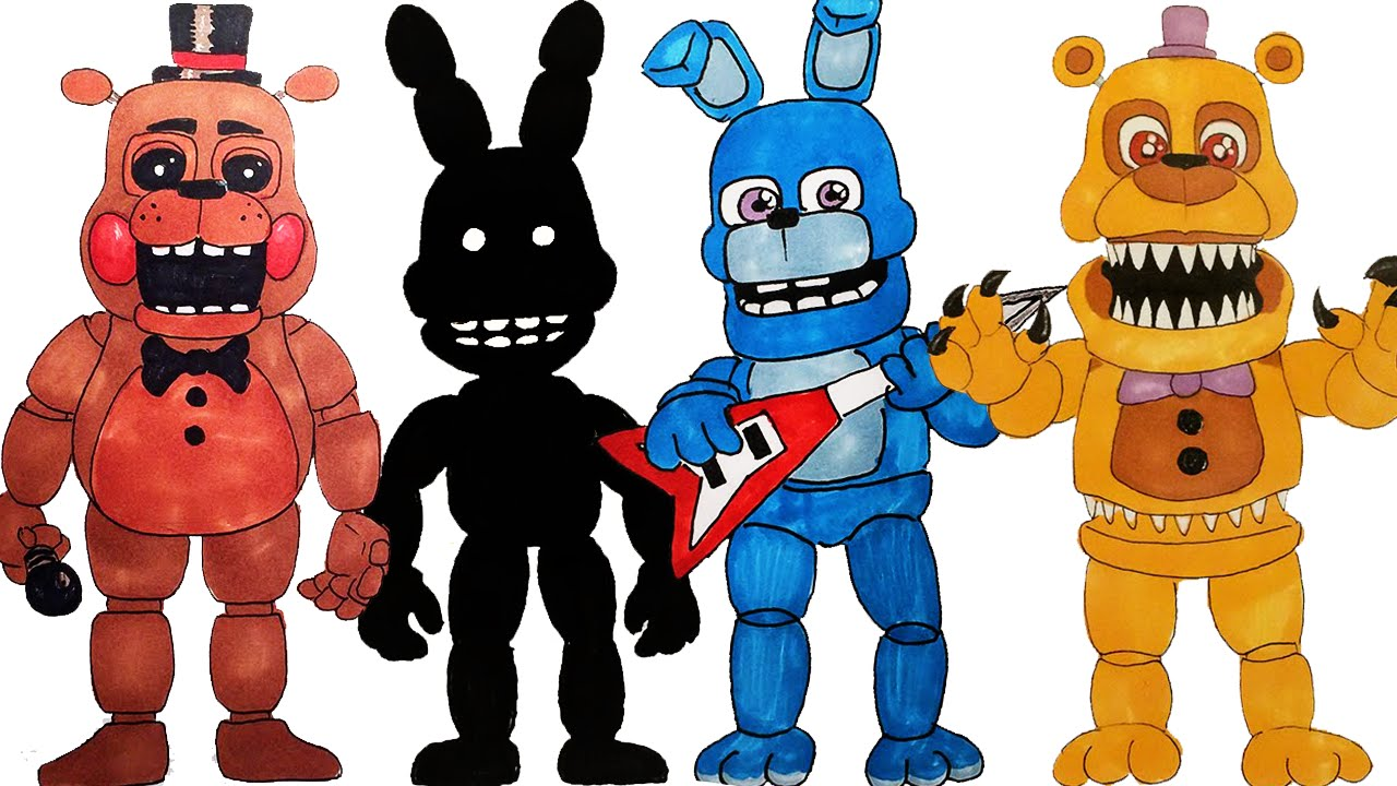 1280x720 All Of My Fnaf World Drawings How To Draw Drawing Lessons Part 2