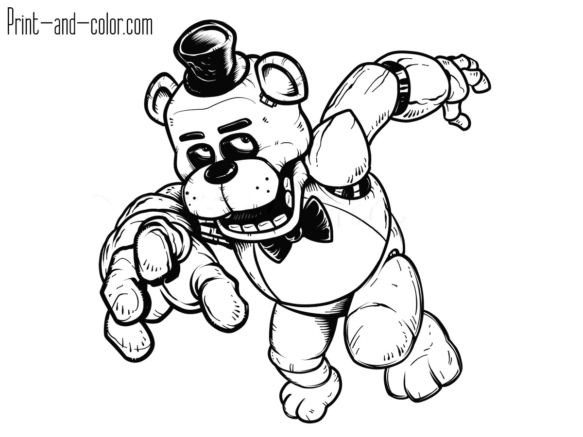 1200x900 Fnaf 007 Five Nights At Freddy S Characters Coloring Pages