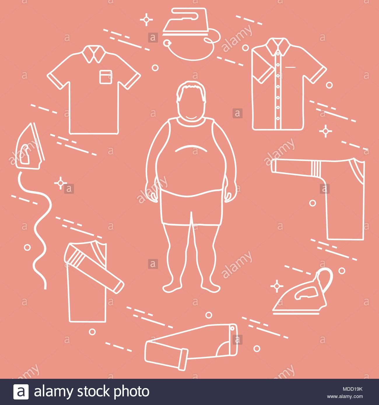 1300x1390 Fat Man, Irons, Folded Trousers, T Shirt, Jumper, Shirt. Design