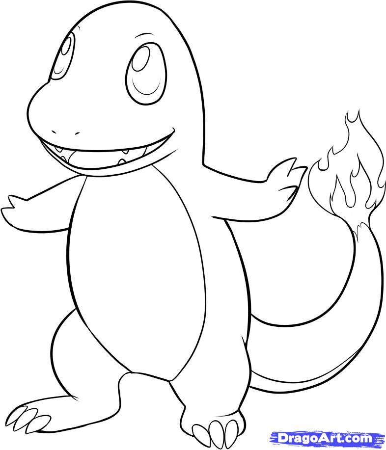 786x917 Easy To Draw Pokemon Characters How To Draw Charmander