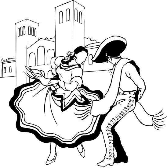 547x552 Image Result For Folklorico Dancer Stencil Stencil Dancer