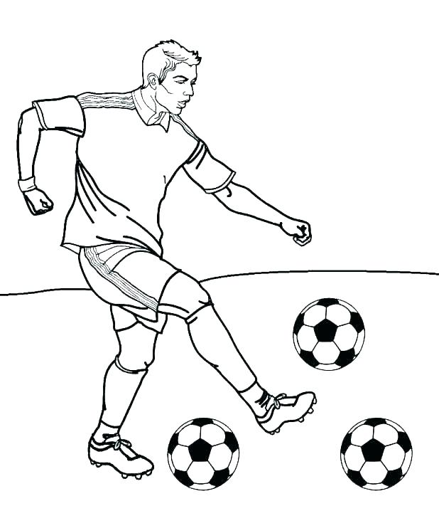 618x711 Football Player Coloring Pages Printable Football Drawing Image
