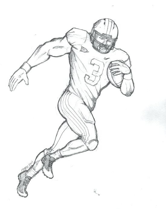 550x692 Football Player Coloring Pages Unique Football Field Drawing