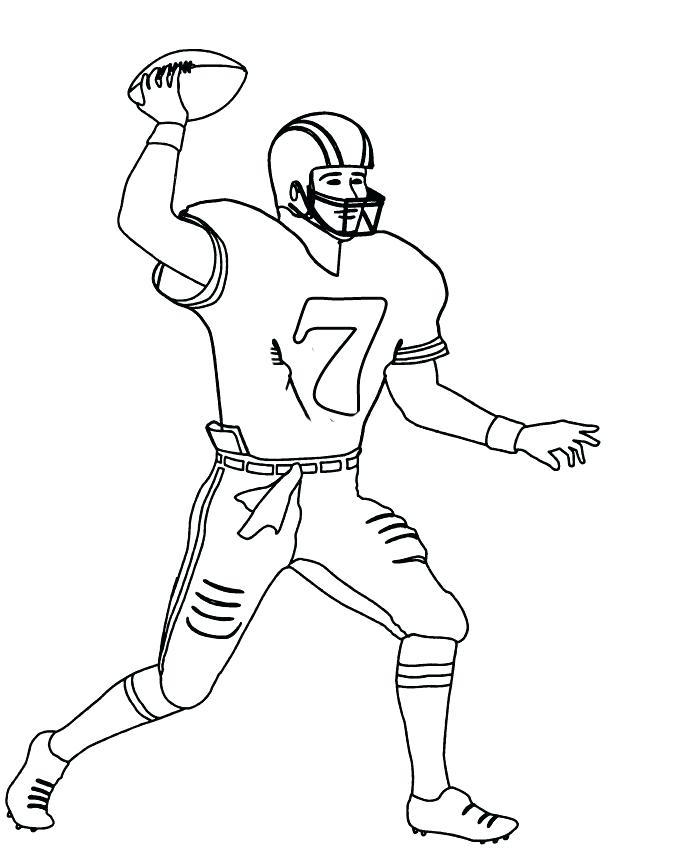 675x859 Football Player Coloring Pictures Drawing Football Player